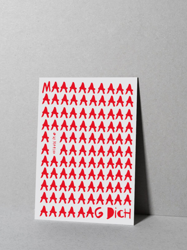 Postkarte maaaagdich weiß
