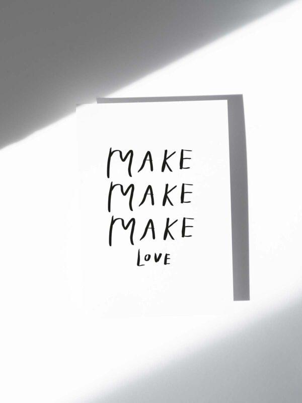Postkarte Make Love
